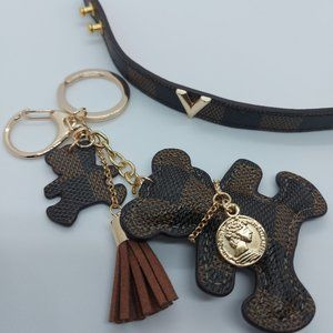 Cute Teddy Bear Key Ring and Fashion Bracelet